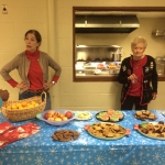 Carole Locklear and Betsy Bampton oversee cookies.